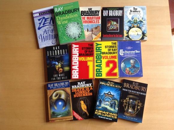My Ray Bradbury books.JPG